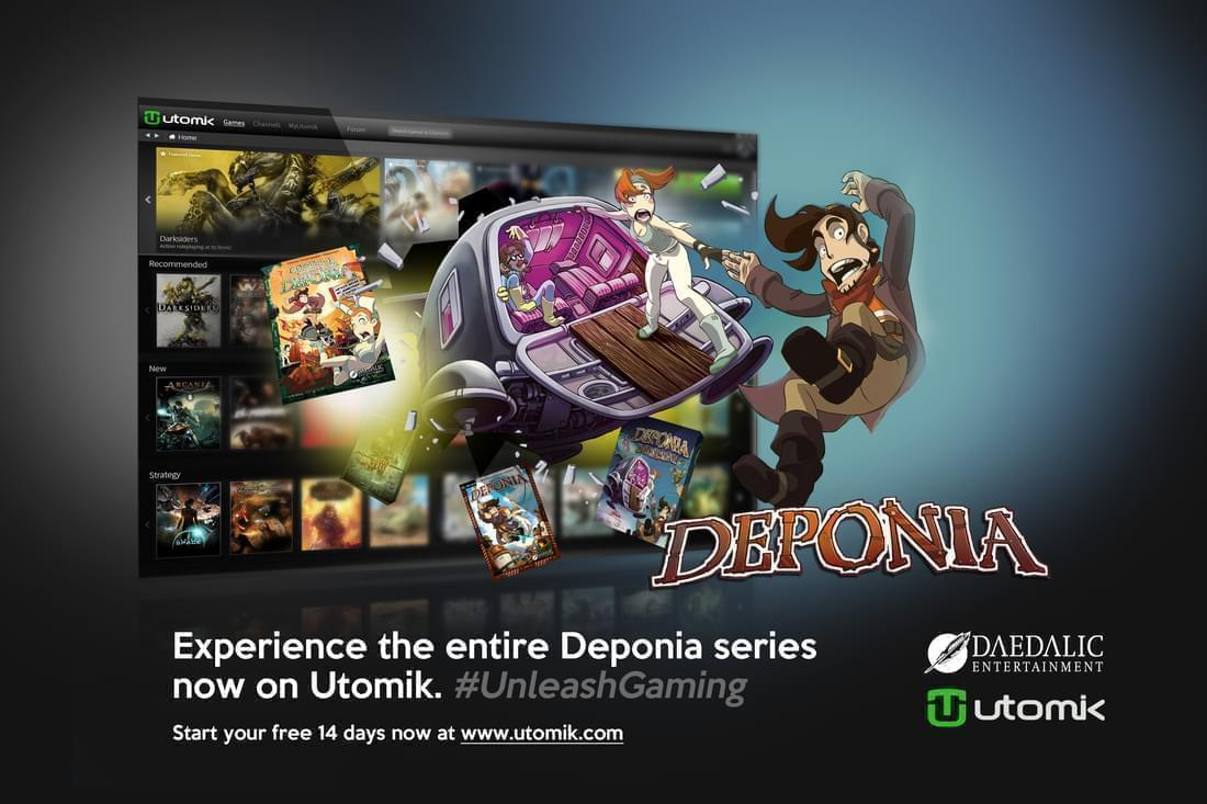 Experience the entire Deponia series now on Utomik