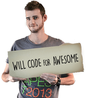 Will code for awesome