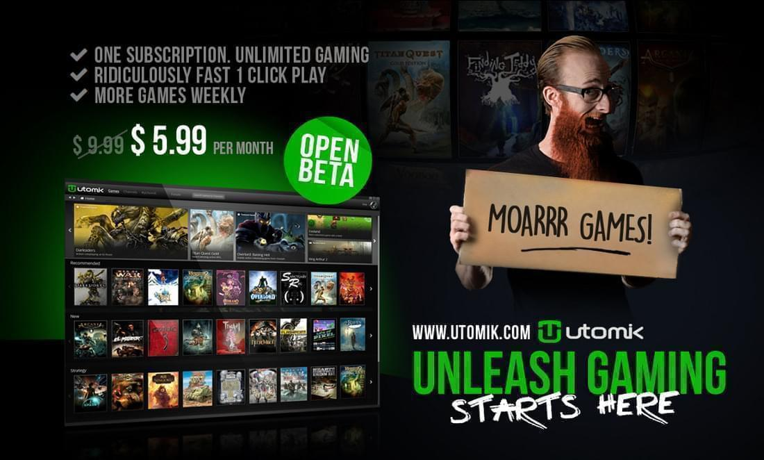 Utomik now in Open Beta